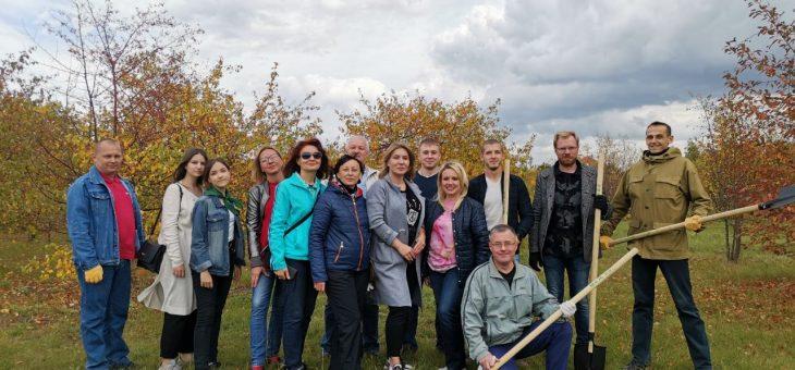 Посадка деревьев в Тольяттинском дендропарке!